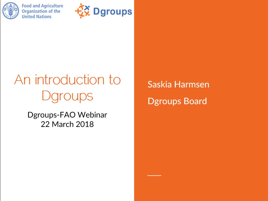 An introduction to Dgroups [9-minute video presentation]