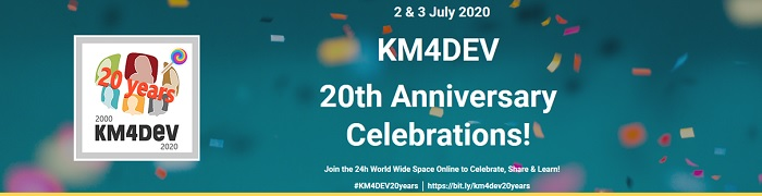 Online collaboration, dialogue and interaction – Dgroups Foundation convenes exchange at the KM4Dev July 2020 event