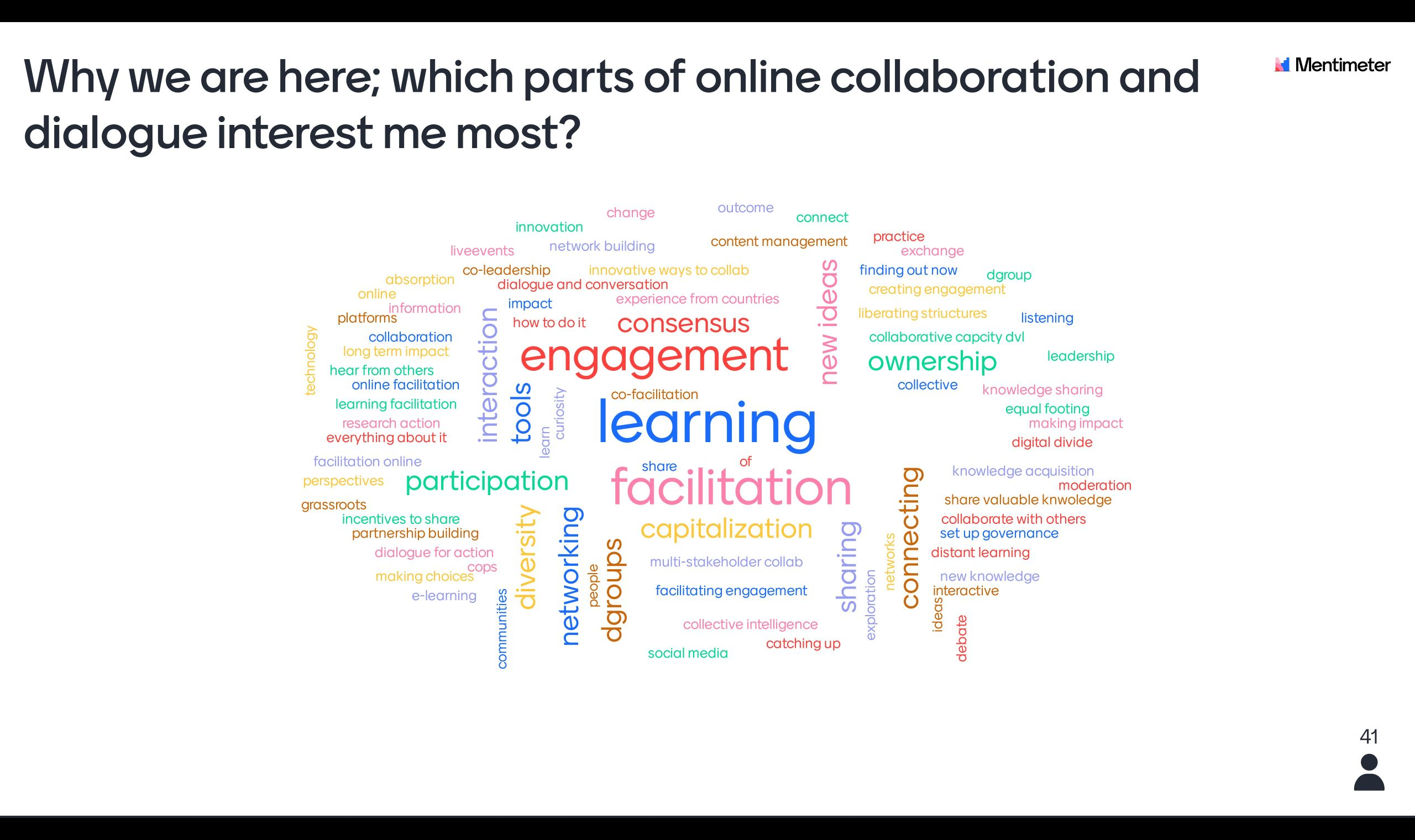 Critical factors for more effective online collaboration, dialogue and interaction in development
