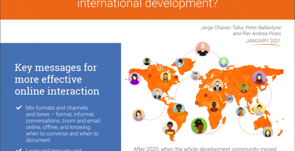 Brief summarises lessons for more effective online collaboration, dialogue, and interaction in international development